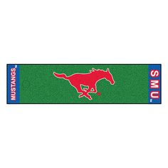 Collegiate Southern Methodist Putting Area Rug