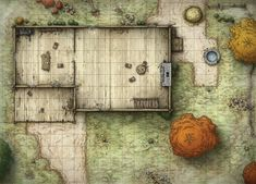 A variety of map designs for tabletop board games and fantasy adventure game settings. Fantasy City Map, Pathfinder Maps, Building Map, Rpg Map, Dungeon Maps, Dungeon Tiles, House Map, Map Design, Medieval Fantasy