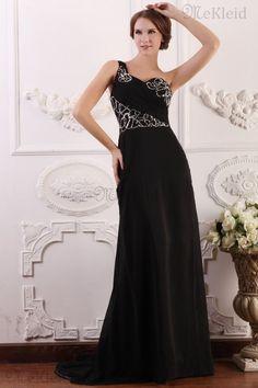 Schulterfrei A-Line Prinzessin ärmelloses Abendkleid mit Kristall aus Chiffon