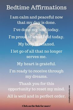 29 Bedtime Affirmations for Peace and Relaxation | Sleep quotes, Positive affirmations quotes, Affir