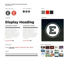 Personal Website Style Tile / Style Guide by Kurt Emch