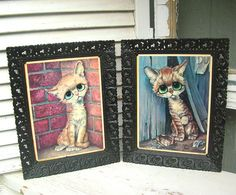 Vintage  Gig Keane  Pity Kitty  Big Eye Cat by renaissancecouture, $15.00