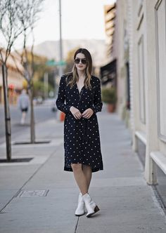 Street Style Zip Up Dress | Thrifts and Threads