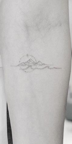 Beautiful Small Tattoos, Cute Tiny Tattoos, Small Girl Tattoos, Mini Tattoos, Tattoos For Women, Inner Forearm Tattoo, Collarbone Tattoo, Moutain Tattoos, Self Love Tattoo