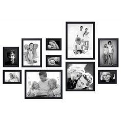 Fotomuur kant & klaar - 10 fotokaders - Zwart - S41VH2 WALL2