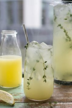 Great on its own, even better with a splash of booze added! Thyme Lemonade | DonalSkehan.com