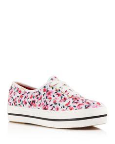 kate spade new york Triple Kick Rose Garden Platform Sneakers | Bloomingdales's
