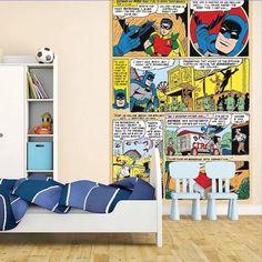 Decoración habitación de superhéroes Batman y Robin DC Cómics