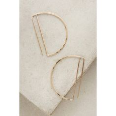 Lila Rice Gold Deco Hoops ($148) ❤ liked on Polyvore featuring jewelry, earrings, gold, geometric earrings, geometric jewelry, handcrafted gold jewelry, art deco gold earrings and handcrafted jewellery