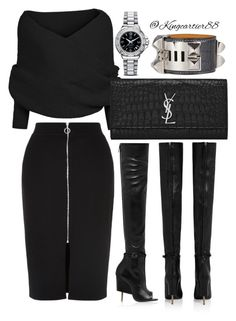 """""""Simplicity"""" by jusgram88 ❤ liked on Polyvore featuring Givenchy, Yves Saint Laurent, Hermès and Tag Heuer"""