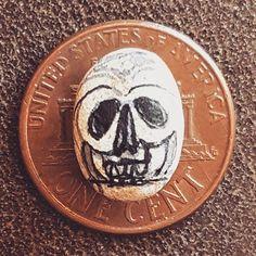 #CreativeSprint #skulladay #skullabration #dailycreativity Day 17 -  #teenyteenytinyskull