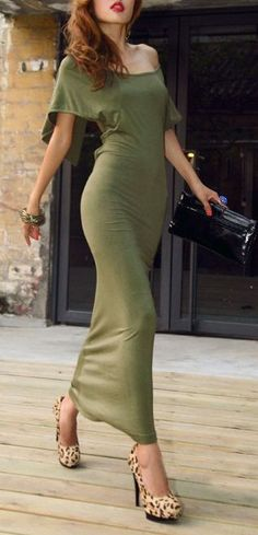 MUST HAVE Olive Maxi Dress...