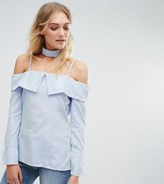 Shop the latest Parisian Tall Off Shoulder Top trends with ASOS! Asos Maternity, Off Shoulder Tops, Cold Shoulder, Stripes Design, Cropped Pants, Parisian, Top Sales, Fall Outfits, How To Wear