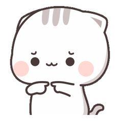 Cute Anime Cat, Cute Bunny Cartoon, Cute Kawaii Animals, Cute Cartoon Pictures, Cute Love Pictures, Cute Cat Gif, Cute Love Cartoons, Cartoon Pics, Cute Bear Drawings