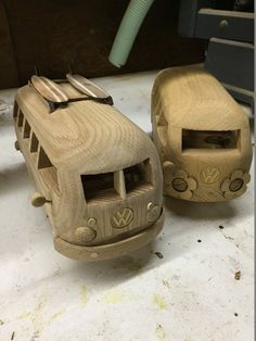 Surf City VW Bus by GrampasCave on Etsy