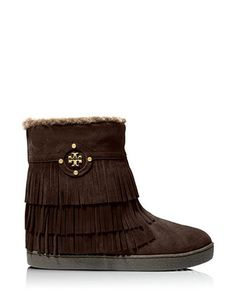 #TORYBURCH Collins Fringe Ankle Bootie