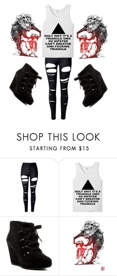 """""""Said every person on tumblr"""" by marina-hxpe ❤ liked on Polyvore featuring WithChic and Via Spiga"""