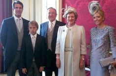 At the Wedding of Prince William. Their son is with them because William is his Godparent.