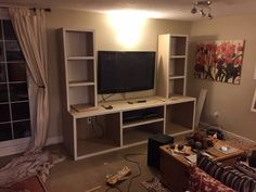Diy Entertainment Center, Corner Desk, Building, Projects, Furniture, Home Decor, Log Projects, Homemade Home Decor, Corner Table