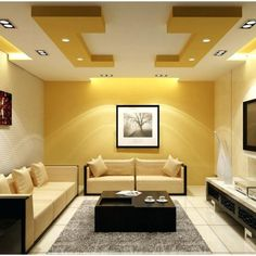 27 √New False Ceilings With Cove Lighting Design For Living Room 15 - homemisuwur Living Room Partition Design, Room Partition Designs, Ceiling Design Living Room, Home Ceiling, Ceiling Decor, Living Room Paint, New Living Room, Ceiling Ideas, Small Living