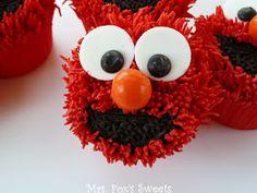 Ms. Fox's Sweets: Elmo Cupcakes