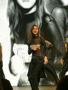 Selena Gomez sexy black sheer see through outfit Selena Gomez Tour, Selena Gomez Fotos, Selena Gomez Style, Cinderella Story, Selena Gomez Wallpaper, Marie Gomez, Stage Outfits, Hollywood Celebrities, Woman Crush