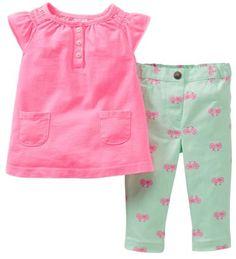 Amazon.com: Carters Girls Baby Bicycle Jegging Set: Clothing