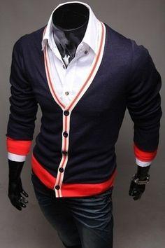 Tri Color Cardigan