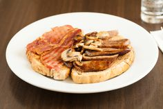 Toasties - Bacon and Mushroom