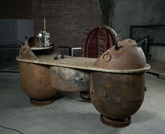 Deadly Decor: Furniture Fashioned From Decommissioned Russian Naval Mines...interesting pieces.