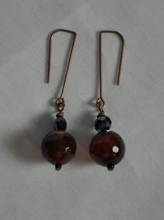 Agate earrings. Dangle Earrings. Semiprecious stone by JunrylGems, $16.00