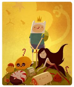 Adventure Time, come on grab your friends. We'll go to very distant lands. With Jake the dog and Finn the human, the fun will never end, it's Adventure Time!