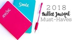 New year equals a new journal? Here are the items you're going to want before you start in your 2018 bullet journal. *This post may contain affiliate links. Please see my Disclosure for more information.  You can't have enough stamps, washi tape, or pens. I justify this to my fiance by saying the itemsare...