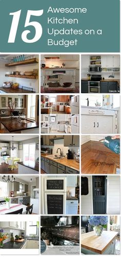 15 awesome kitchen updates on a budget