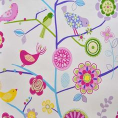 Wallpapers to coordinate with fabric ranges: WALLPAPERS Kids Fabric for Kids Curtains Bedding and Kids Curtain Kits UK