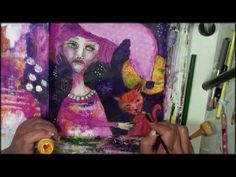 Moonstruck - Speed Painting Mixed Media Art Journaling with Piarom - YouTube