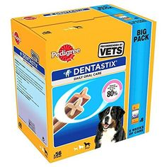 Pedigree DentaStix Large Dog Chews 56 per pack -- See this great product. (This is an affiliate link)