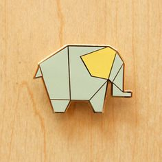 Image of Origami pin : Elephant, Deer