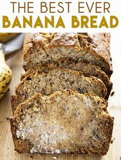 Best Banana Bread Recipe is so easy to make and super soft and moist! The very… Best Banana Bread Recipe is so easy to make and super soft and moist! The very best way to use up overripe bananas this bread is tender and packed full of flavor! Easy Banana Bread, Banana Bread Recipes, Banana Bars, Delicious Desserts, Dessert Recipes, Yummy Food, Cooking Recipes, Healthy Recipes, Dessert Bread
