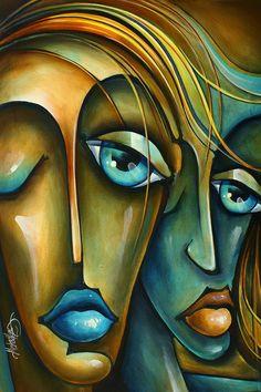 ' Sharing ' Painting by Michael Lang