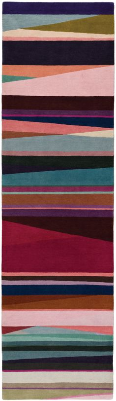 Tapis Refraction Bright Runner Paul Smith The Rug Company Interior Rugs Patterned