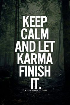 When you accuse someone of having it and she doesn't, then you get it...haha...I'll just let Karma finish it!