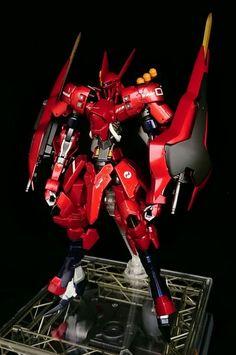 Custom Build: 1/100 Grimgerde [2 Sazabi Shields] - Gundam Kits Collection News…