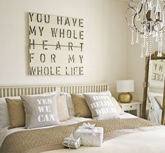 """You Have my Whole Heart for my Whole Life"" - Romantic Bedrooms"