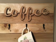 Decor, Coffee Signs, Wooden Cutouts, Farmhouse Decor, Coffee Cup Rack, Mug Rack, Picture Mugs, Rack, Coffee Cups