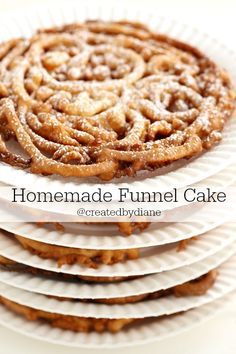 if you like funnel cake, you should make it at home. It's inexpensive to make and really easy. This is such a great recipe, delicious.