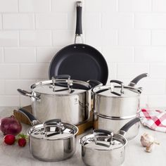 The Synergy Cookware's elegant shapes, stainless steel lids, contemporary handles and stainless steel finish bring sophistication into any kitchen. This item is specially priced for our Red Hot Deal offer. Limit 2 per customer.
