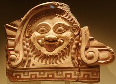 Fragmentary Antefix (roof ornament) with Medusa, Terracotta, Etruscan, made in… Magna Graecia, Getty Villa, Medusa Gorgon, Mesoamerican, Green Man, Pompeii, Mythical Creatures, Terracotta, Mythology