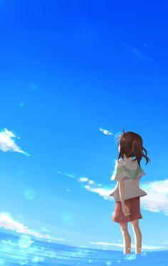 「ただ青い空の青さを知る」/「Rina.*」のイラスト [pixiv]