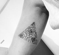 Rose triangle, but would be better in a heart shape | Tattoos and ...